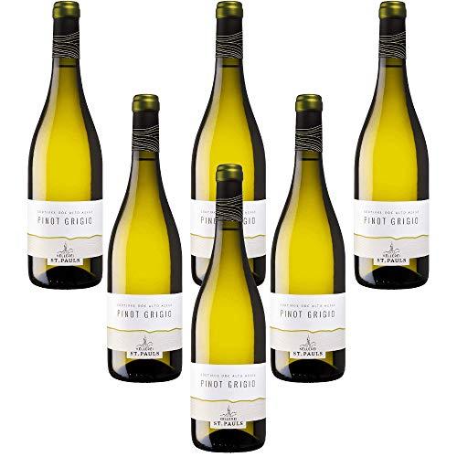 Pinot Grigio Alto Adige DOC St.Pauls vino blanco italiano Cantina Produttori San Paolo (6 botellas 75 cl.)