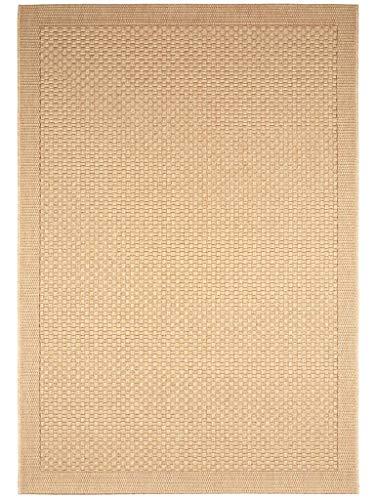 benuta In- & Outdoor Teppich Naoto Beige 80x150 cm | Pflegeleichter Teppich geeignet für Innen- und Außenbreich, Balkon und Terrasse