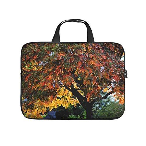 Funda para portátil con diseño de árbol de otoño con estampado 3D, delgada, de neopreno, para tablet, para novio o novia