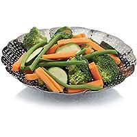 Kitchen Craft KCSTEAM23 - Cesta Plegable para cocción al Vapor en Acero Inoxidable, 23cm