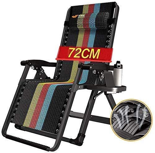 PAKUES-QO Sillas Plegables de Gravedad Cero, sillón reclinable del reclinable del ocioso mecedor del ocioso portátil