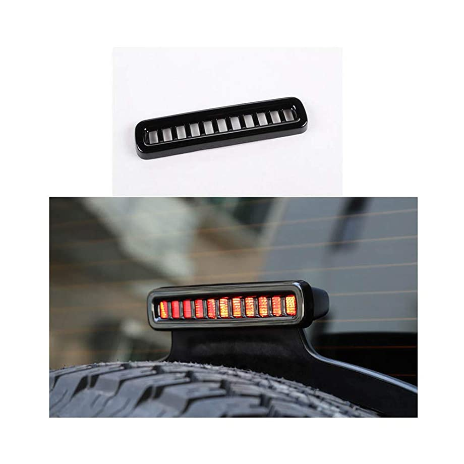zfproduct Third Brake Light Cover Trim Decal for Jeep Wrangler JL 2018 + (Black)