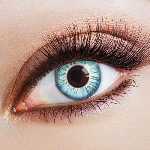 aricona Kontaktlinsen - Hellblaue Kontaktlinsen Cosplay Kontaktlinsen - Farbige Kontaktlinsen hellblau ohne Stärke, 2 Stück