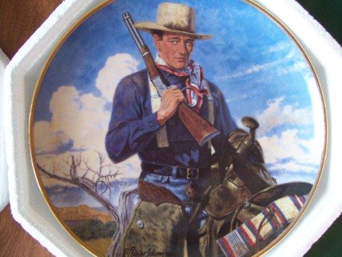 Franklin Mint John Wayne, Spirit of the West Limited Edition Plate No. LE4210 by Robert Tenenbaum -  Franklin Ventures