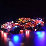 Trueornot Kit de iluminación LED DIY para Lego Technic 42125 – Ferrari 488 GTE – sin kit Lego