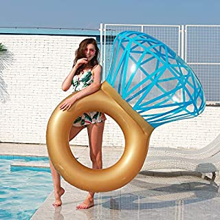 Zoostliss Inflatable Diamond Ring Pool Float for Adults & Kids