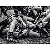 Wee Blue Coo Photo Sport Rugby Football Close Up Scrum Players Ball Game Art Print Poster Wall Decor 12X16 inch