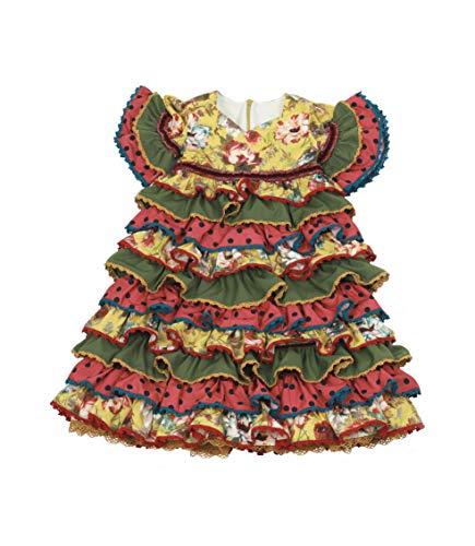 Vestido Traje Flamenca niña bebé (Desde 12 Meses hasta 24 Meses) - Modelo Remedios - Hecho a Mano - Excellent