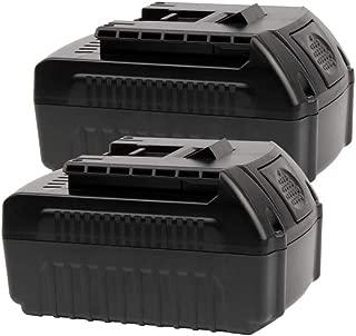 2PACK 18V 4.0AH BAT620 Battery Replace for Bosch 18V Battery for Cordless Power Tools BAT609 BAT610 BAT610G BAT612 BAT618 BAT618G BAT619G 2607336235