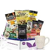 KETO Snacks & Keto Mug Gift Box: Low Carb (5G Net Carbs or less) Low Sugar (2G or less) High Fat Keto Friendly Snacks - Great Keto Gift Baskets