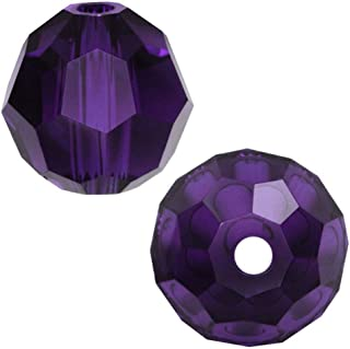 100pcs 6mm Adabele Austrian Round Crystal Beads Purple Velvet Compatible with 5000 Swarovski Crystals Preciosa SS2R-627