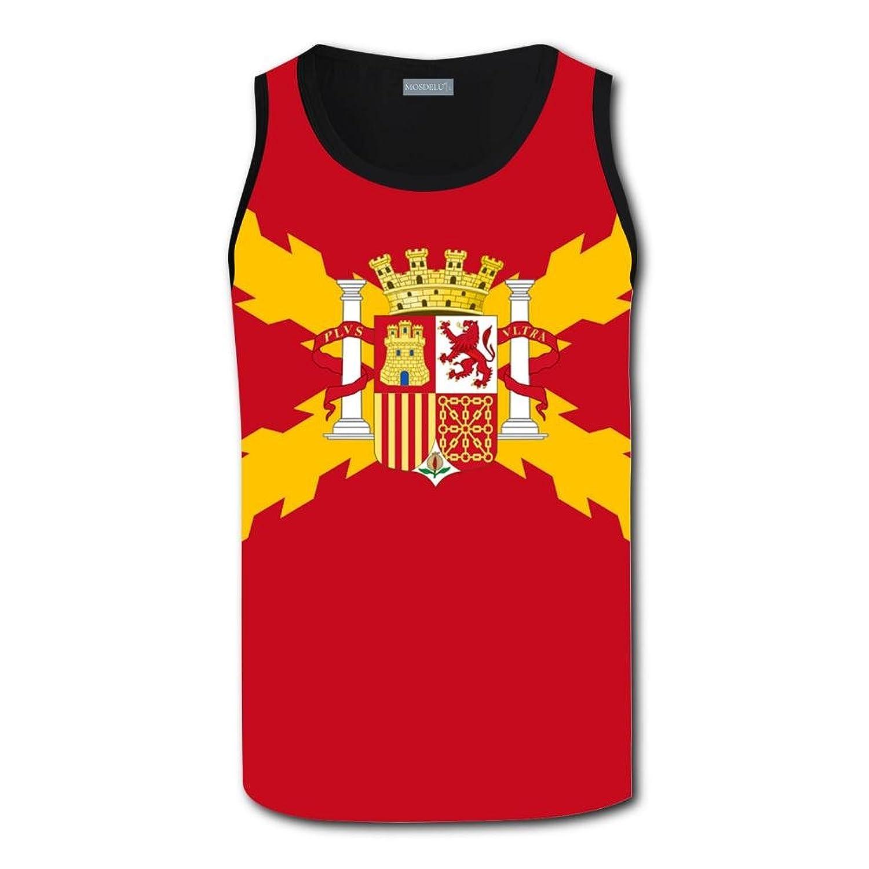 Spain Spanish Flag タンクトップ 3Dノースリーブ タンク メンズ タンクトップ スポーツ 夏 ファッション