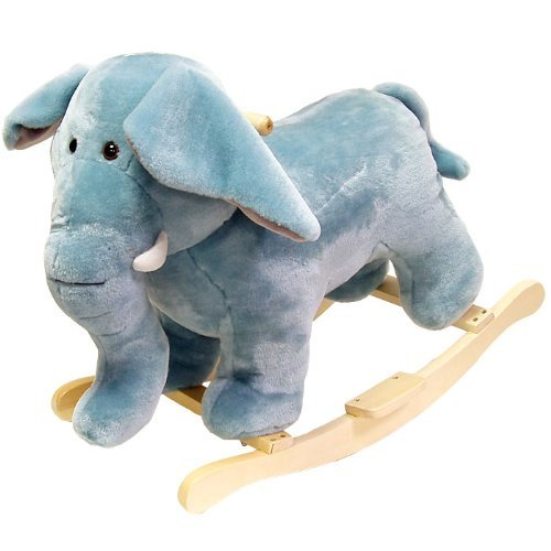 For Sale! Happy Trails Elephant Plush Rocking Animal (Renewed)