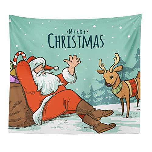 Serie de Navidad Tapiz, Año Nuevo dormitorio antecedentes mantel Tapiz la decoración del hogar alfombra de picnic...