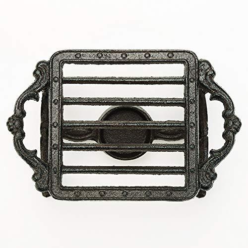Sungmor Heavy Duty Gusseisen Teekanne Dish Warmer Stable Holder für Teelichtständer | Teelichtwärmer Dekoofen für Villa Yard Balcony-Square