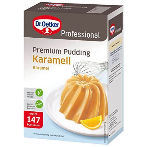 Dr. Oetker Professional Premium Pudding Karamell, Puddingpulver in 1 kg Packung