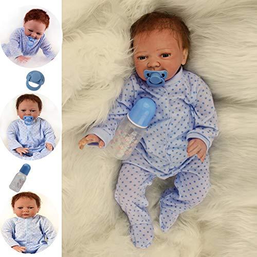 ZIYIUI Reborn Muñecas Bebé Suave Vinilo de Silicona 20 Pulgadas 50 cm Bebe Reborn niño Lifelike Realista Regalo de Juguete Muñecos Bebé