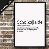 Definition: Schokolade | DIN A3 | Premium Spruch-Poster