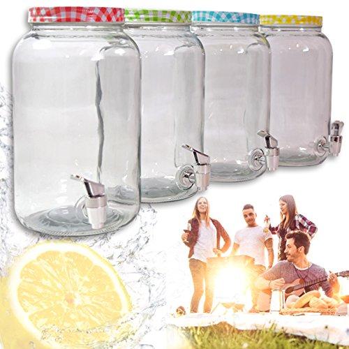 (828) drankdispenser dispenser drankhouder glas sapdispenser 3 liter tapkraan