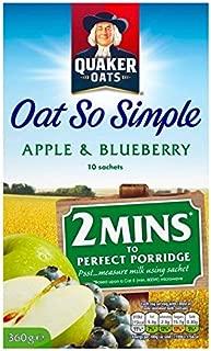 Quaker Oat So Simple Apple & Blueberry 10 x 36g - Pack of 2