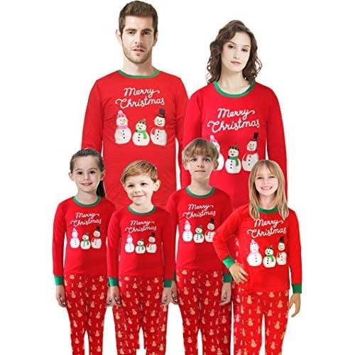 f6b81ddf0021 Matching Family Pajamas Christmas Santa Claus Sleepwear Cotton Kids PJs