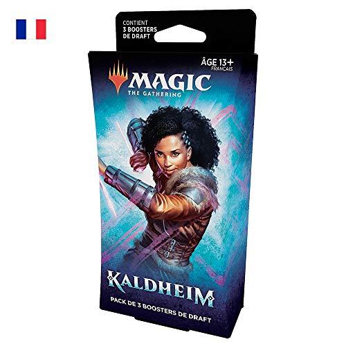 Magic The Gathering Kaldheim Pack de 3boosters de Draft, 45 Cartes Magic-Version française