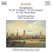 Symphonies 85, 92 & 103