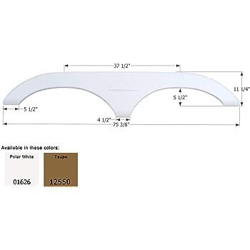 White Icon Technologies 01796 Keystone 5th Wheel Travel Trailer Fender Skirt