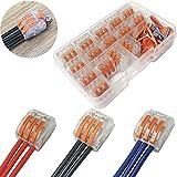 Morsettiere elettriche, CTRICALVER Capicorda a Morsetto a Leva Connettore cavo elettrico K...