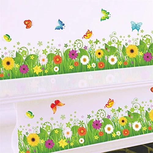 Colorful zonnebloem keuken plint vloerbedekking lijn Angolare stickers Murali Finestra Home Decor muursticker van PVC om te knutselen