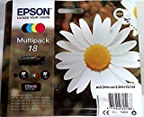 Epson C13T18064012 - Cartucho de Tinta Original para Epson XP-30 (Multipack), Normal, Multicolor, Ya Disponible en Amazon Dash Replenishment