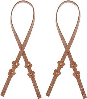 IPOTCH Pack Of 2 Leather Shoulder Crossbody Handbag Strap, Length 70cm