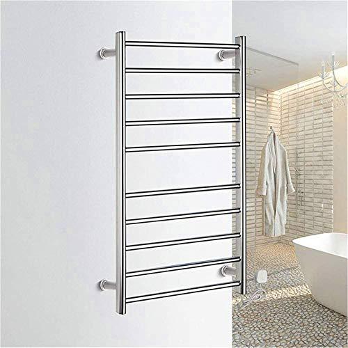 Toallero calefactado montado en la pared, Railleñas de toallas con calefacción Rieles de toalla, calentador de toalla eléctrica, Toalla de Toalla Calentada Montado en la Toalla Montado en la pared Toa