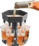 Alihoo 6 Schnapsglasspender und -halter, Shot Dispenser Six Ways, Bar Shot Dispenser, Cocktailspender, Dispenser mit Slogan, Trinkspiele Wine Dispenser einschließlich 6 Silikonstopfen...