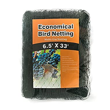 Gardener House Strawberry Netting-Stops Birds and Hawks from Eating Plants and Vegetables-6.5'x 33'(2PC)