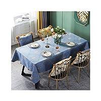 テーブルクロス ヨーロッパのテーブルクロス布アートオーバルコーヒーテーブルテーブルクロスレトロ裁判所長方形テーブルクロスヨーロッパやアメリカのスタイルの英国のホーム2colors (Color : Blue, Size : 110*170cm)