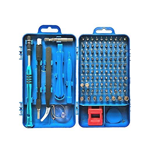 Juego de destornilladores de 60 piezas para reloj y desmontaje de teléfono móvil, herramientas de reparación de electricista (color azul)