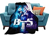 Kpop B-T-S Blanket All Season Super Soft and Comfortable Bed Sofa Blanket 50x40 inch.