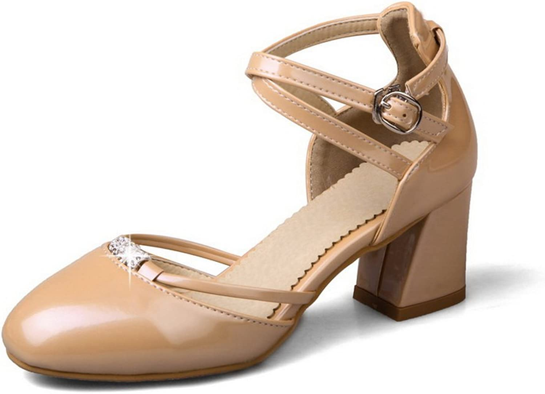 BalaMasa Womens Smooth Leather Huarache Fashion Urethane Sandals ASL04910