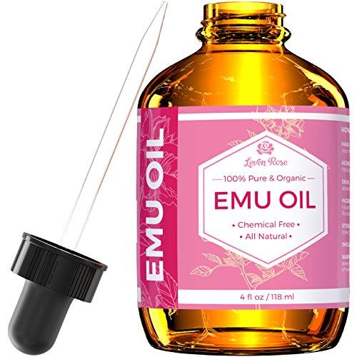 Emu Oil by Leven Rose, 100% Pure Natural Hair Strengthener Scar Minimizer Anti Aging Skin Moisturizer 4 oz