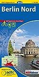 ADFC-Regionalkarte Berlin Nord mit Tagestouren-Vorschlägen, 1:50.000, reiß- und wetterfest, GPS-Tracks Download: Vom Alex zum Werbellinsee, von Nauen bis Eberswalde (ADFC-Regionalkarte 1:50000)