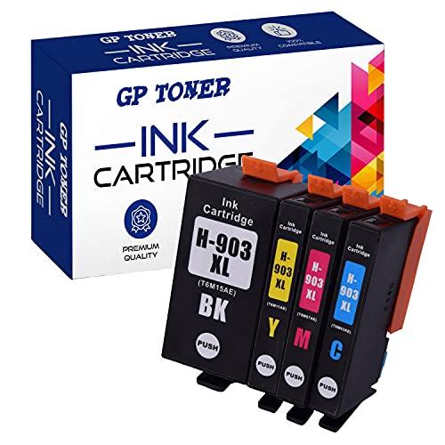 GP Merotoner - Cartuchos de tinta compatibles con HP Officejet 6950 Pro 6960 6970 All-in-One (negro, cian, magenta y amarillo)