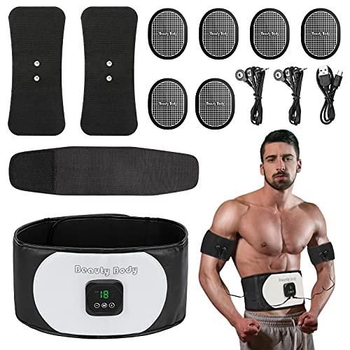Jooheli Electroestimulador Muscular, Abdominales Cinturón, Estimulador Muscular Abdominales EMS Ejercitador del Abdomen/Brazo/Piernas/Cintura