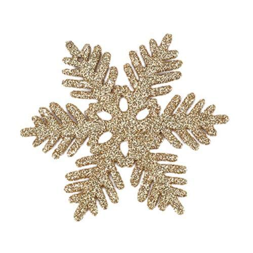 Christmas decoration snowflake paper garland, family birthday party decorations, DIY hanging banner Christmas decorations (Color : Golden)