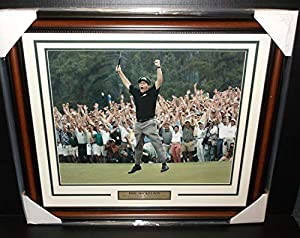 Phil Mickelson Masters Champion 2004 2006 2010 16x20 Photo Framed - Golf Plaques and Collages