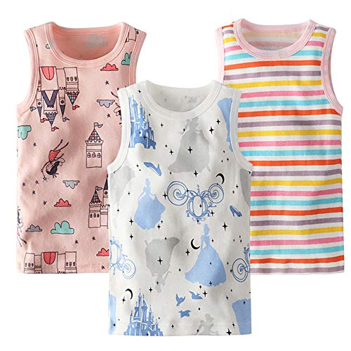 benetia Baby Girls Tanks Tops Cami Undershirts Cotton (3/Pack) Size 18Months 2t