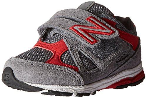 New Balance New Balance KV888V1 Infant Running Shoe (Infant/Toddler), Grey/Red, 21 M EU
