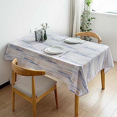 Nappe rectangulaire imperméable à Rayures Couverture de Table à Manger nappes rectangulaires pour la Maison et la Cuisine A1 150x210 cm