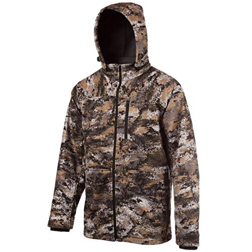 Huntworth Men's Mid Weight Soft Shell Hunting Jacket, Disruption, Large
