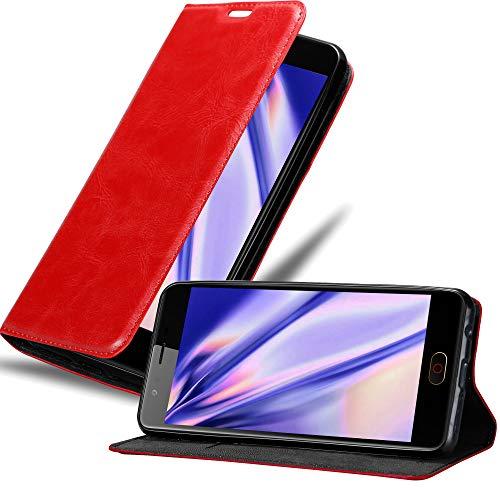 Cadorabo Hülle für ZTE Nubia M2 in Apfel ROT - Handyhülle mit Magnetverschluss, Standfunktion & Kartenfach - Hülle Cover Schutzhülle Etui Tasche Book Klapp Style